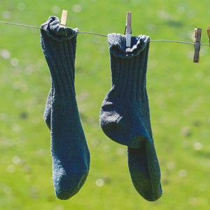 Pair of socks on a washing line
