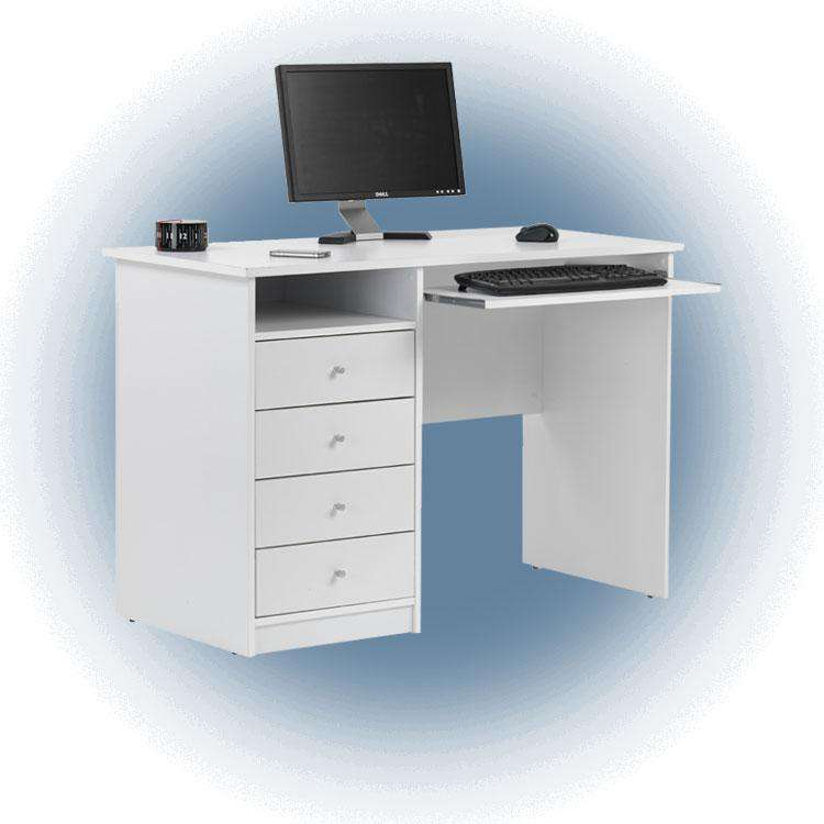 Alphason Marymount White Student Desk (AW22813-WH)