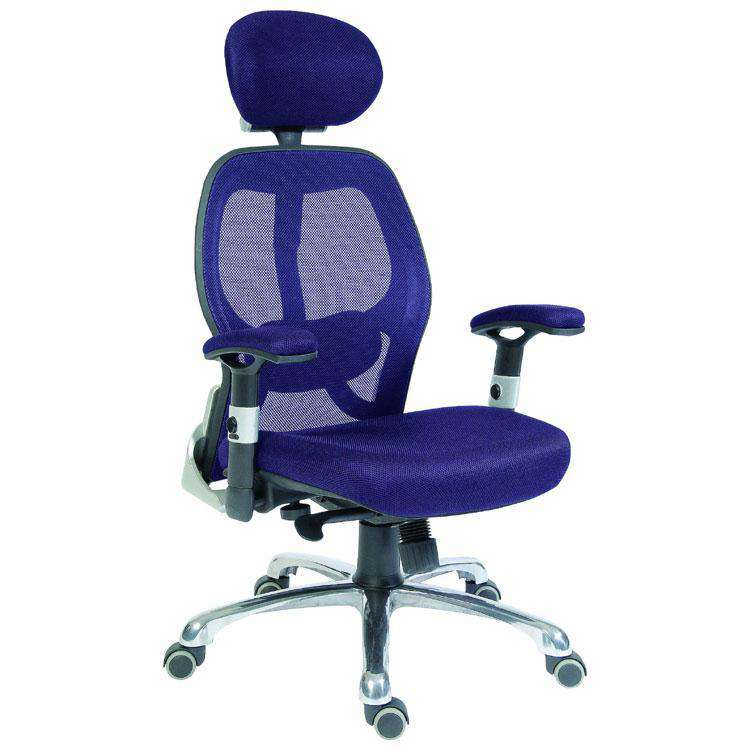 Teknik OA1013BL - Cobham Mesh Executive Office Chair in Blue