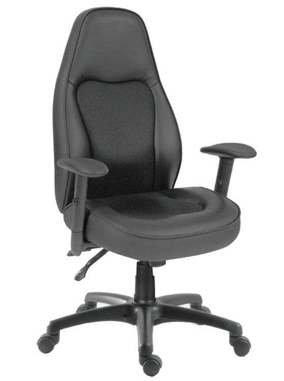 Teknik OUK780SLF - Rapide Extra-Large Leather Chair in Black