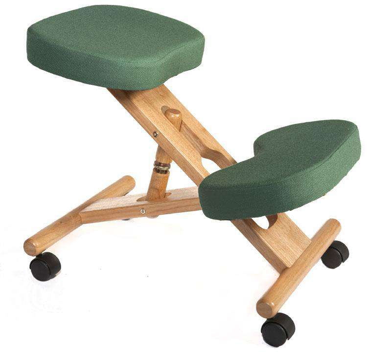 Teknik M0001-GR - Wooden Kneeling Chair in Green