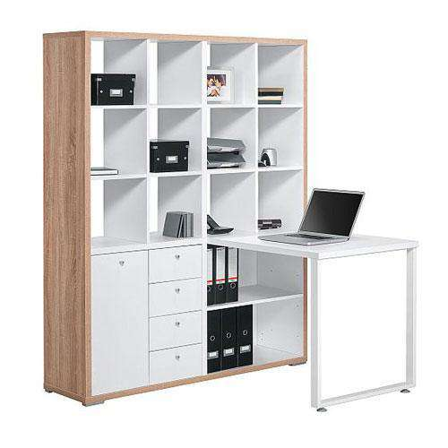 Maja Mini Office Sonoma Oak And Ice White