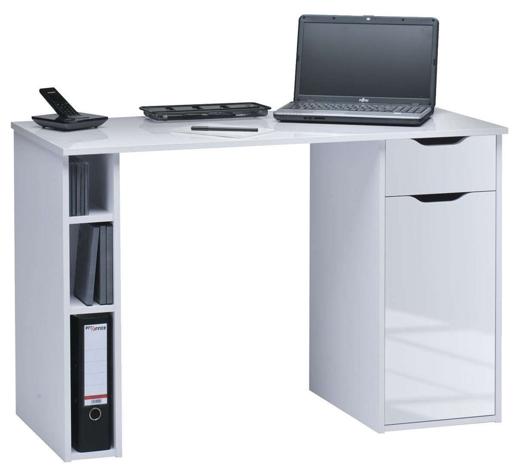 Maja Vegas Computer Desk in White and High Gloss White (4008 5639)