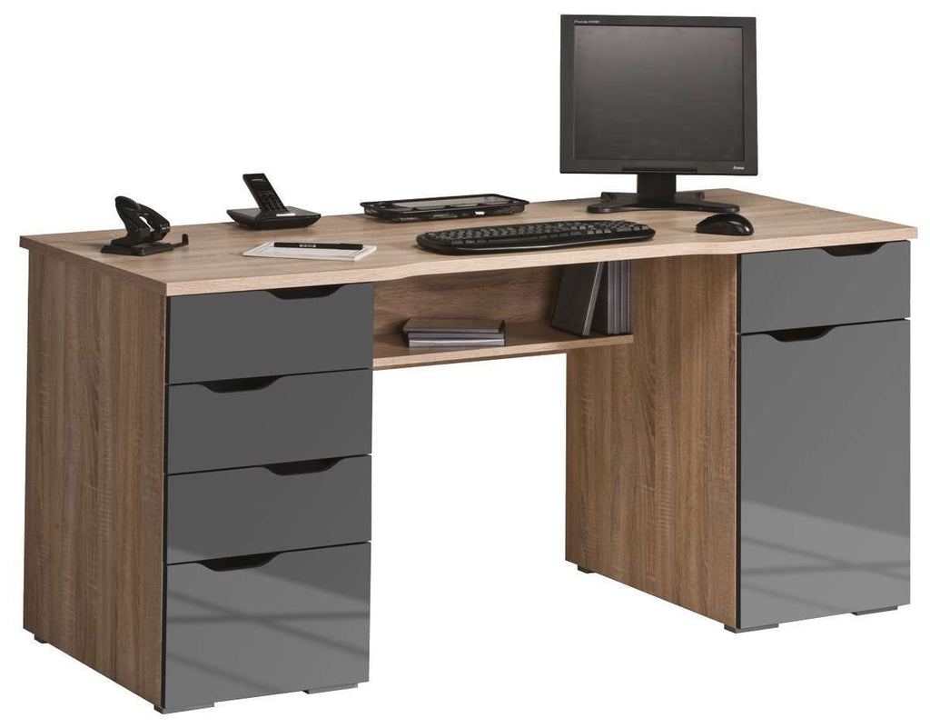 Maja Marlborough Oak and Grey Office Desk