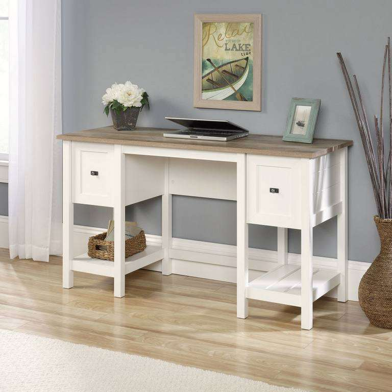 Teknik Shaker Style Soft White Home Office Desk