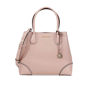 939e8955e538 Michael Kors Mercer Gallery Medium Pebbled Leather Satchel- Fawn