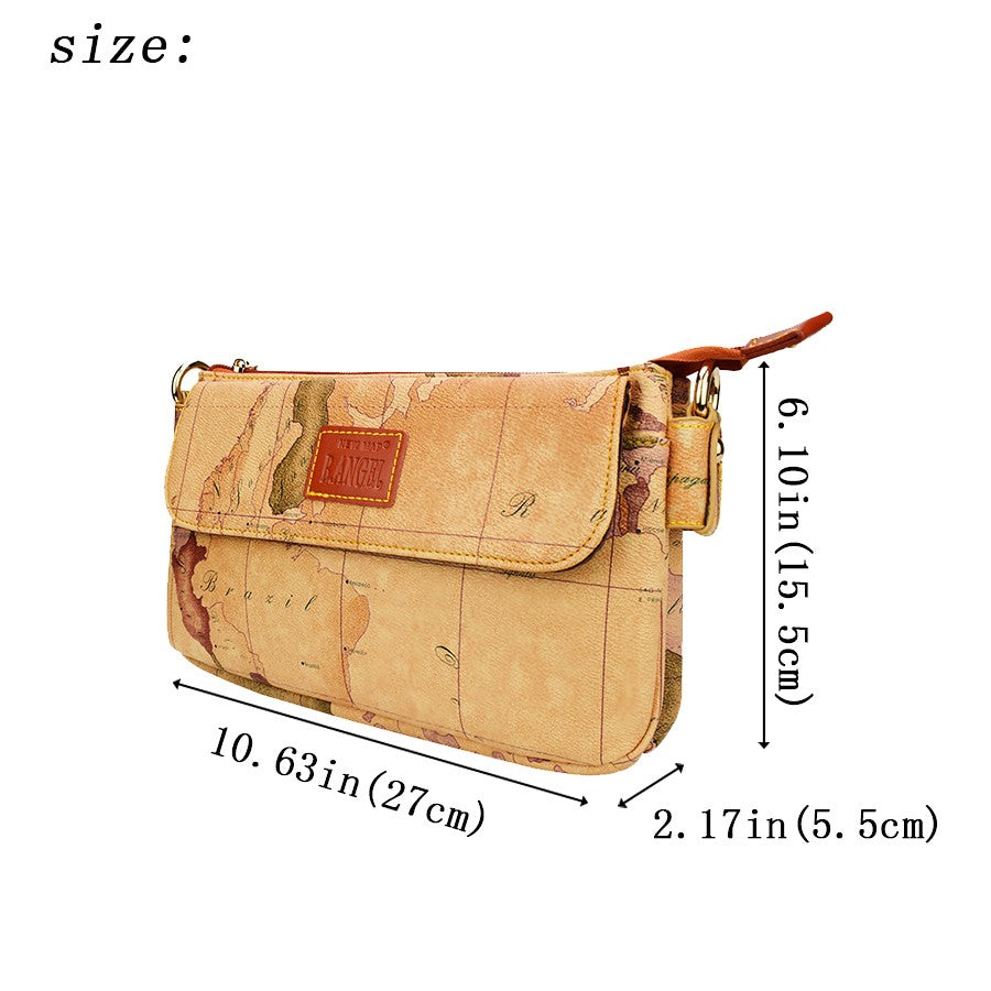 Double Pouch World Map Purse Free Shipping Worldmaptreasures