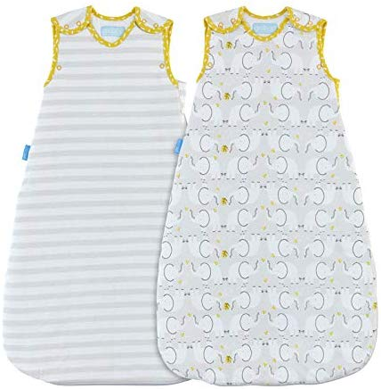 The Gro Company Elephant Love Grobag Baby Sleeping Bag Day and Night Twin Pack, 6-18 Months, 1.0 and 2.5 Tog: Amazon.co.uk: Clothing