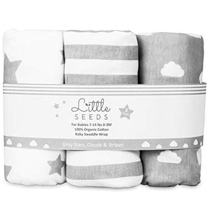Baby Swaddle Wrap Newborn Blanket 0-3 Months 100% Organic Cotton Swaddles: Amazon.co.uk: Clothing