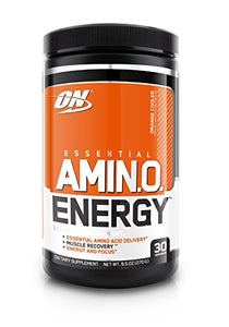 OPTIMUM NUTRITION ESSENTIAL AMINO ENERGY, Orange Cooler, Keto Friendly Preworkout and Essential Amino Acids with Green Tea and Green Coffee Extract, 30 Servings: Gateway