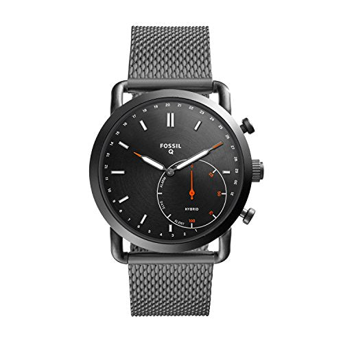 Fossil Hybrid Smartwatch - Q Commuter Smoke Stainless Steel FTW1161: Watches