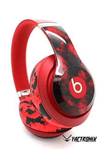 Beats by Dre Studio 3.0 Wireless - Custom Red Dr. Dre Headset - Design (Red Camo): Electronics