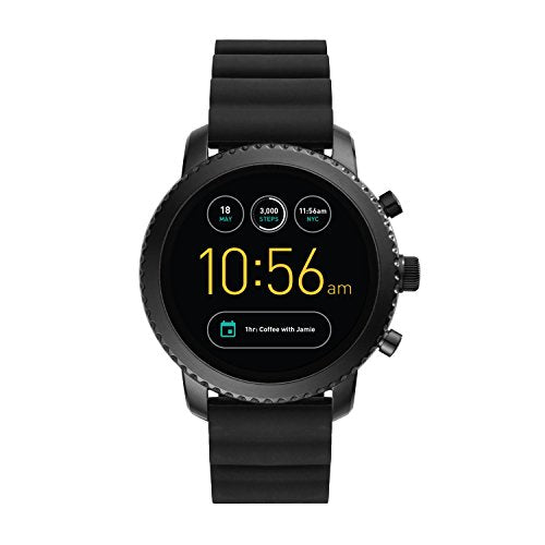 Fossil Gen 3 Smartwatch - Q Explorist Black Silicone FTW4005: Watches