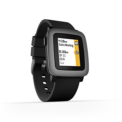 Pebble Time Smartwatch - Black: Cell Phones & Accessories