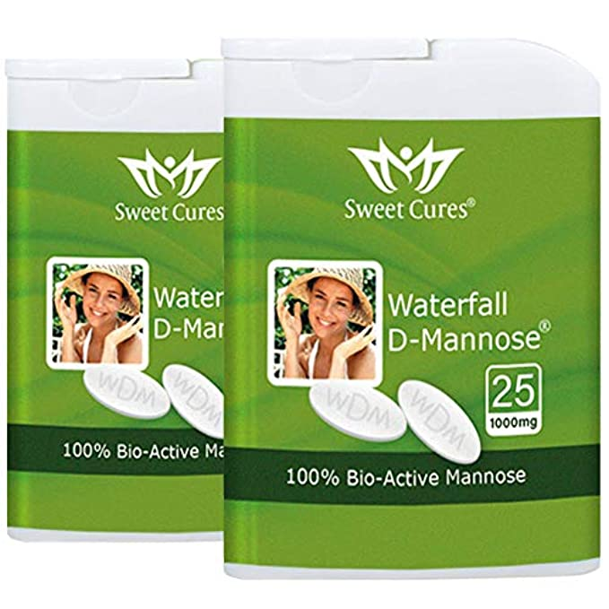 D-Mannose Tablets | Sweet Cures Waterfall D-Mannose 50 x 1g Tablets | Cystitis,