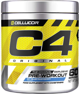 Cellucor C4 Original Pre Workout Powder Energy Drink with Creatine Monohydrate & Beta Alanine, 60 Servings