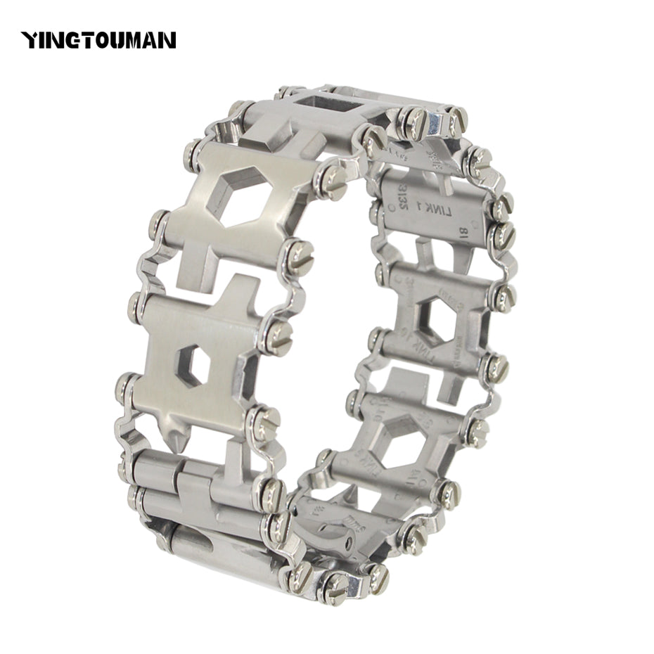 YINGTOUMAN Wearable Tread 29 In 1 Multi-function Bracelet Strap Multi-function Screwdriver Outdoor Emergency Kit Multi Tool