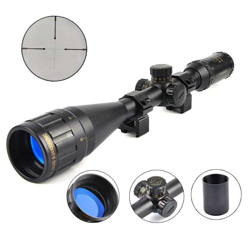 Carl Zeiss  6-24X50 Golden Marking Optics Riflescope Red And Green Retical Fiber Optic Sight Scope Rifle Hunting Scope