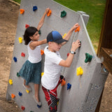 Kids Rock Wall Climbing Hand Holds Set Indoor Outdoor Playground with Screw