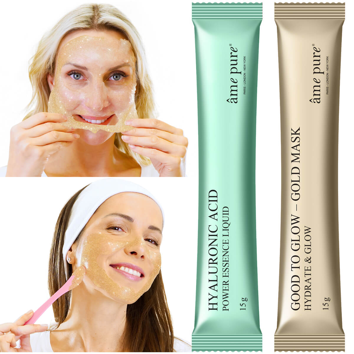 Jelly Glow Rubber Mask™ - Goud