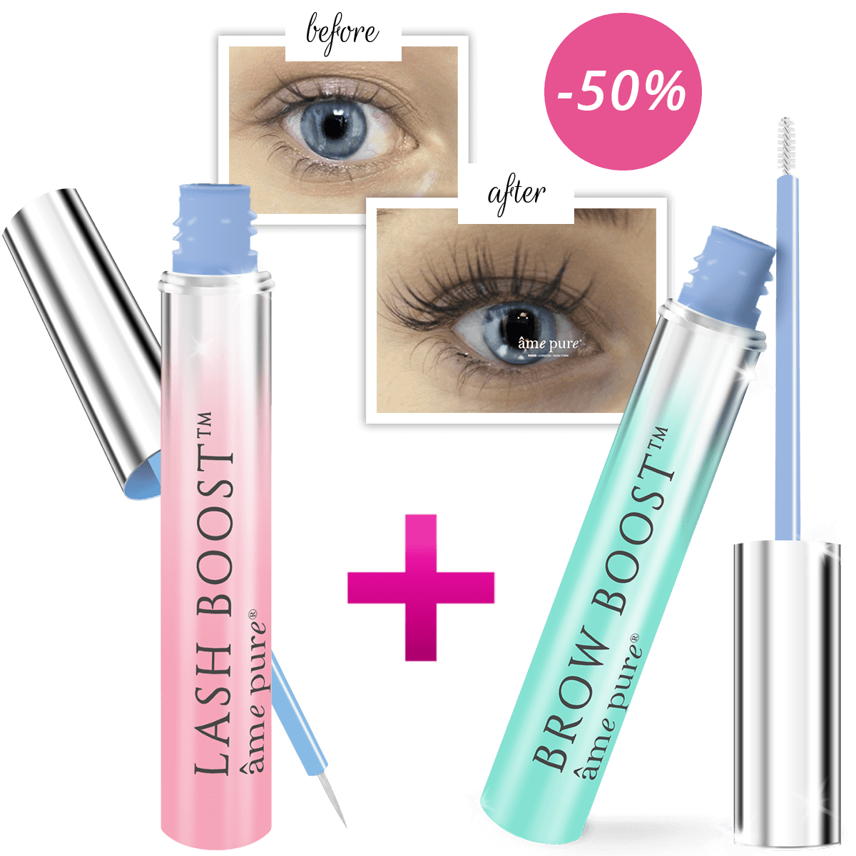 Lash Boost™ + Brow Boost™ Eyelash & Eyebrow Growth Serum