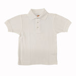 White Short Sleeve Golf Shirt - Adult - Plain No Logo