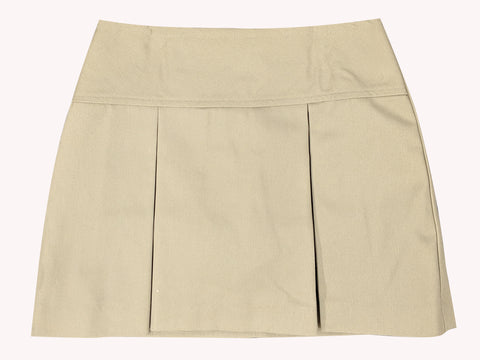 Tan Skort  - Pleated Regular