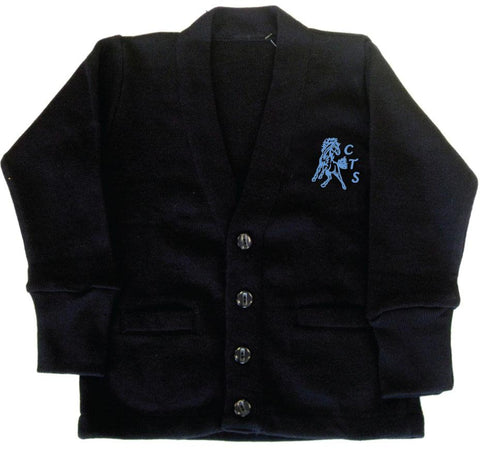 Navy Cardigan - Youth - Cloverdale Traditional