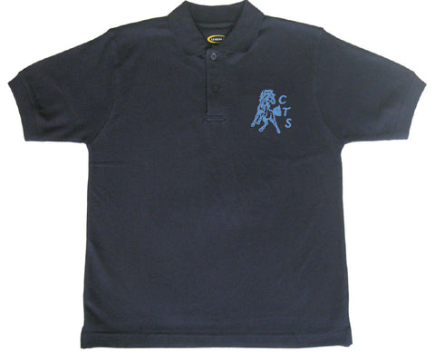 Navy Short Sleeve Golf Shirt  - Youth - Cloverdale Traditional
