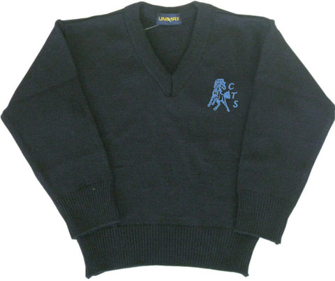 Navy Pullover - Youth - Cloverdale Traditional