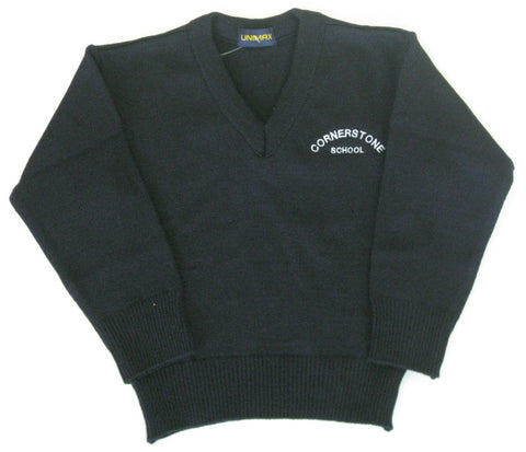 Navy Pullover - Youth - Cornerstone Montessori