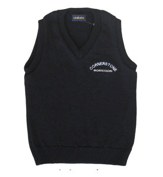 Navy Vest - Youth - Cornerstone Montessori