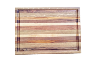 Large Butcher Block Board with Juice Groove