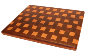Sapele and Birch Squares Cutting Board