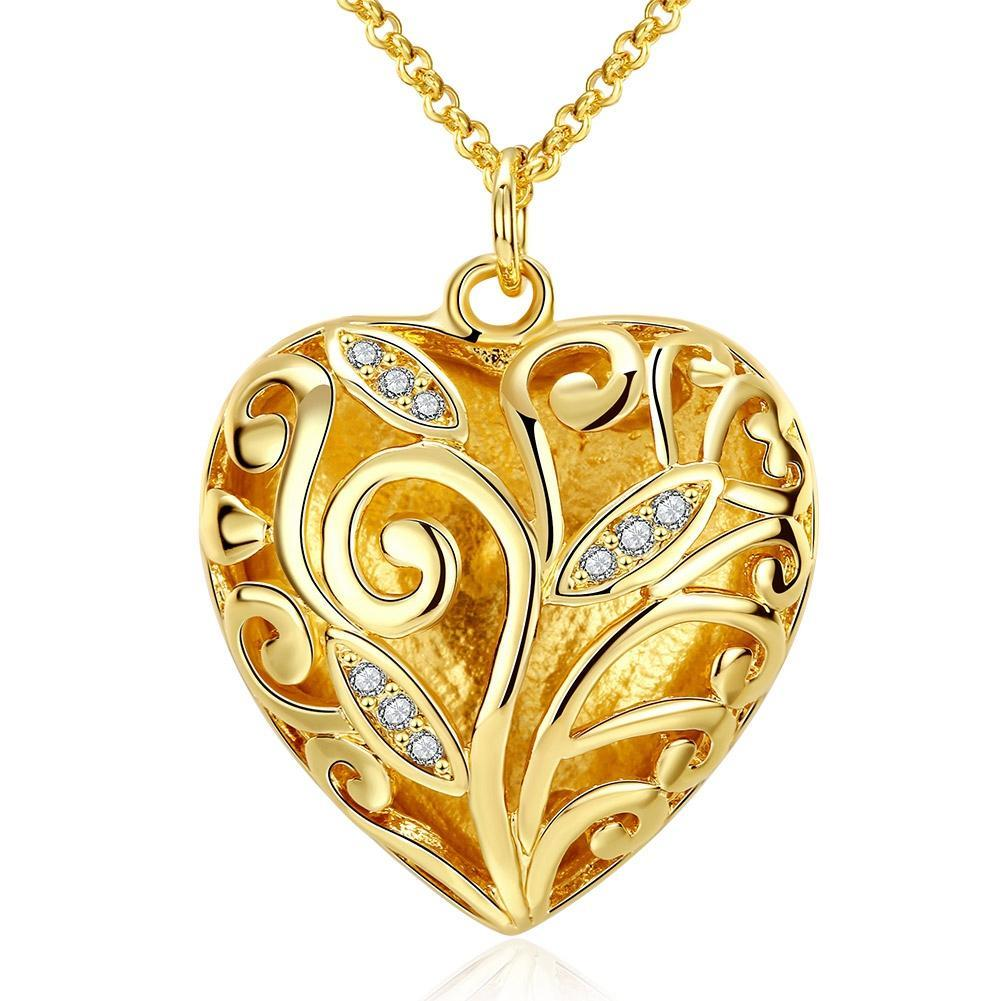 Crystal Filigree Heart Necklace - Lady Galore