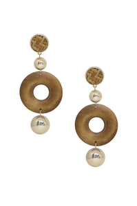 Beachwood 18k Gold Plated Statement Earrings - Lady Galore