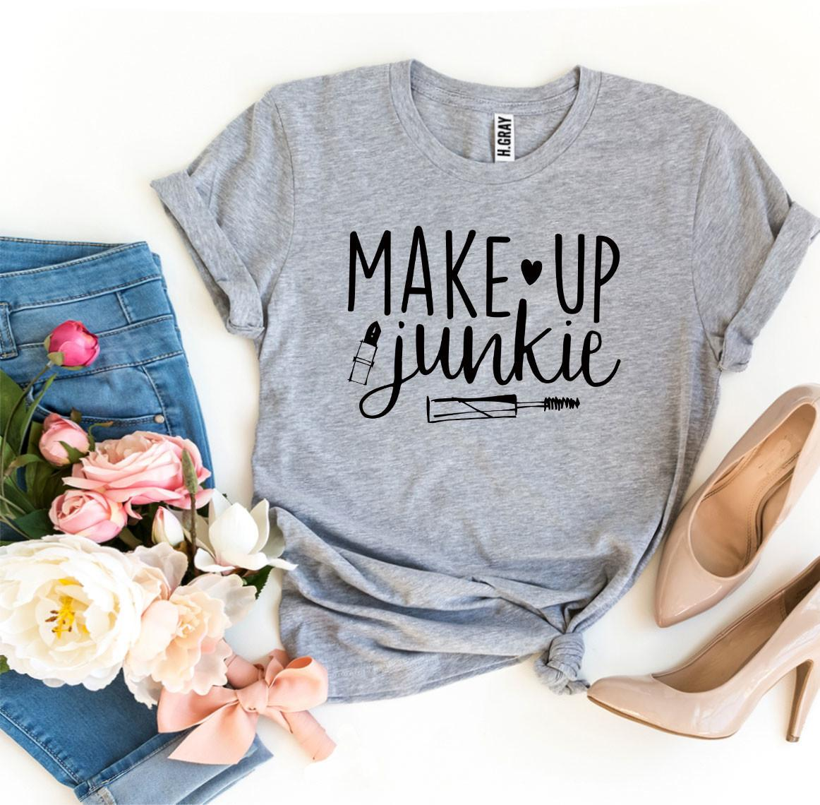 Make Up Junkie T-shirt - Lady Galore