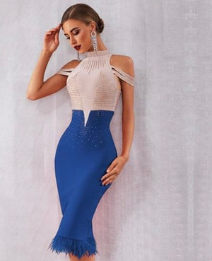 Glam Off Shoulder Bodycon Dress