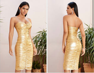 Runway Sleeveless Bodycon Dress