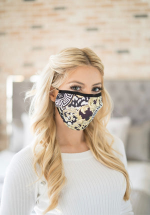 Royal Printed Face Mask - Lady Galore