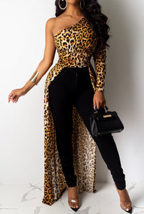 Leopard Long Tail Top