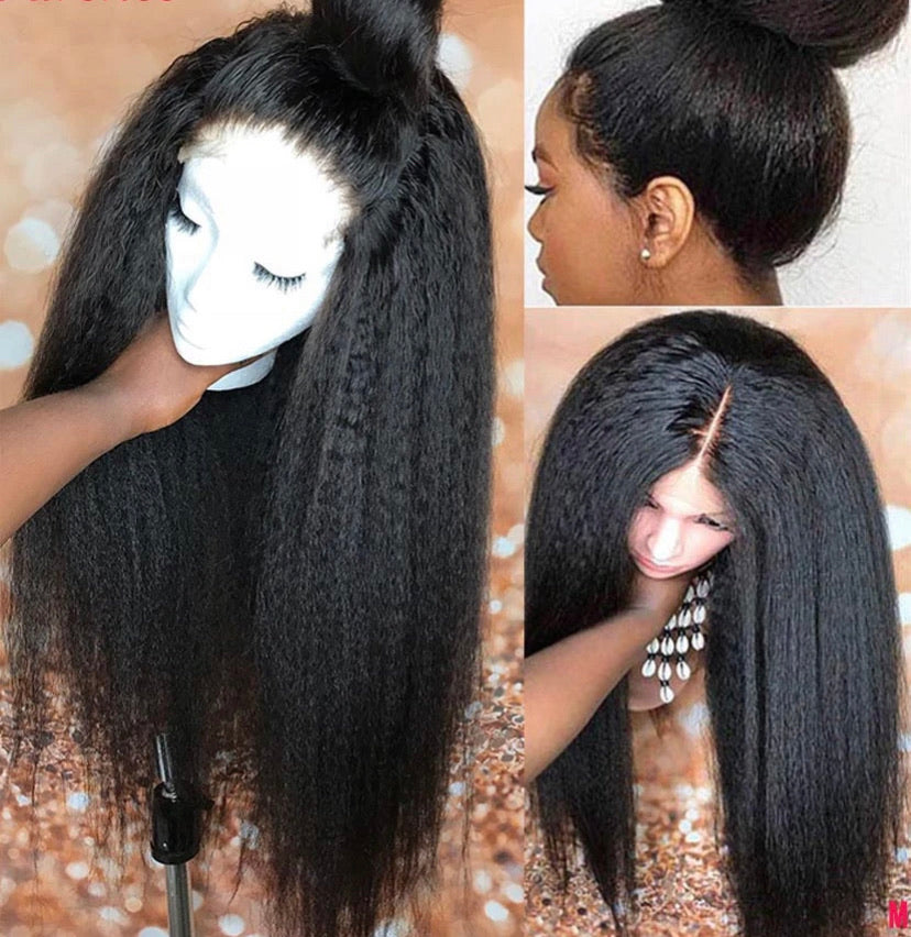 HD Transparent 13x4 Kinky Lace Frontal Wig - Lady Galore