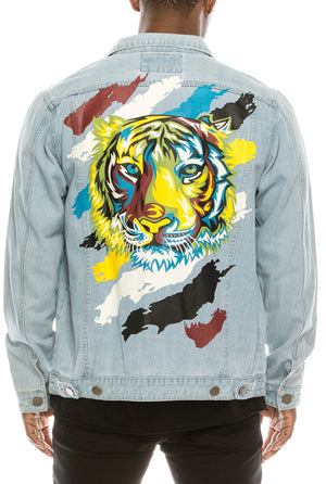 Distressed Tiger Jacket - Lady Galore