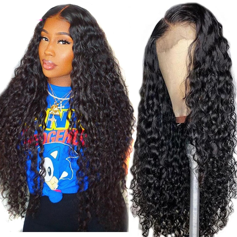 Water Wave 13x4 Lace Frontal Wig - Lady Galore