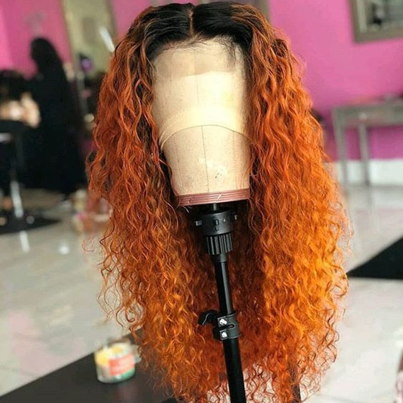 Ginger Orange Ombre Lace Wig - Lady Galore