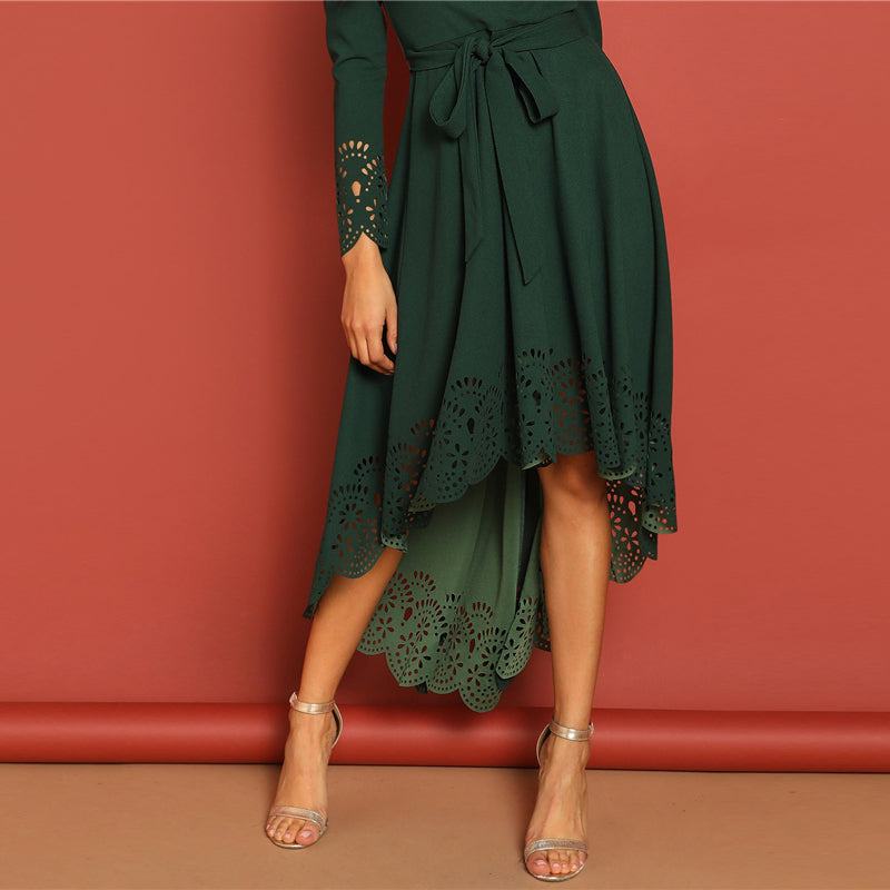Green Flare Dress - Lady Galore
