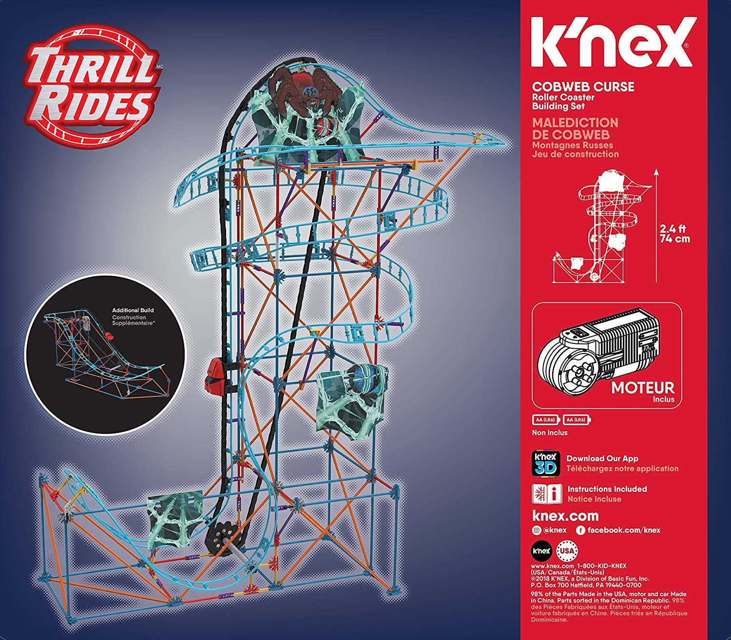 K Nex Thrill Rides Cobweb Curse Roller Coaster Building Set Funtopia Shop