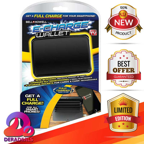 f49c74d479b7e Bell + Howell 2-in-1 Electronic Charge Wallet – Dera Deals