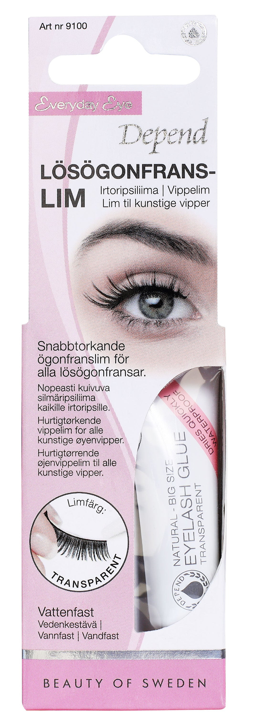 Eyelash glue Transparent 9100