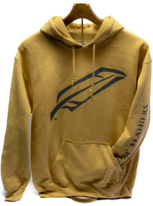 Feather Hoodie in Old Gold